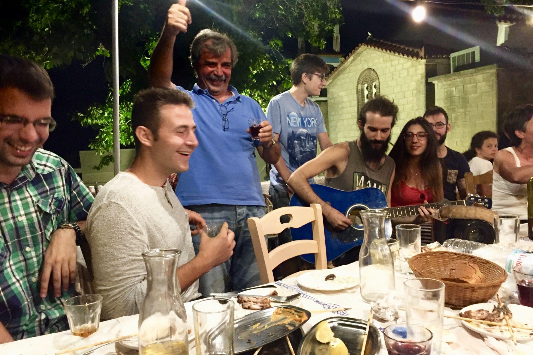 The final dinner, Samos Greece 2017